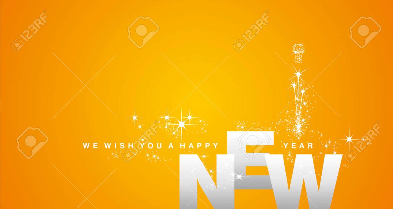 Happy New Year Orange 7