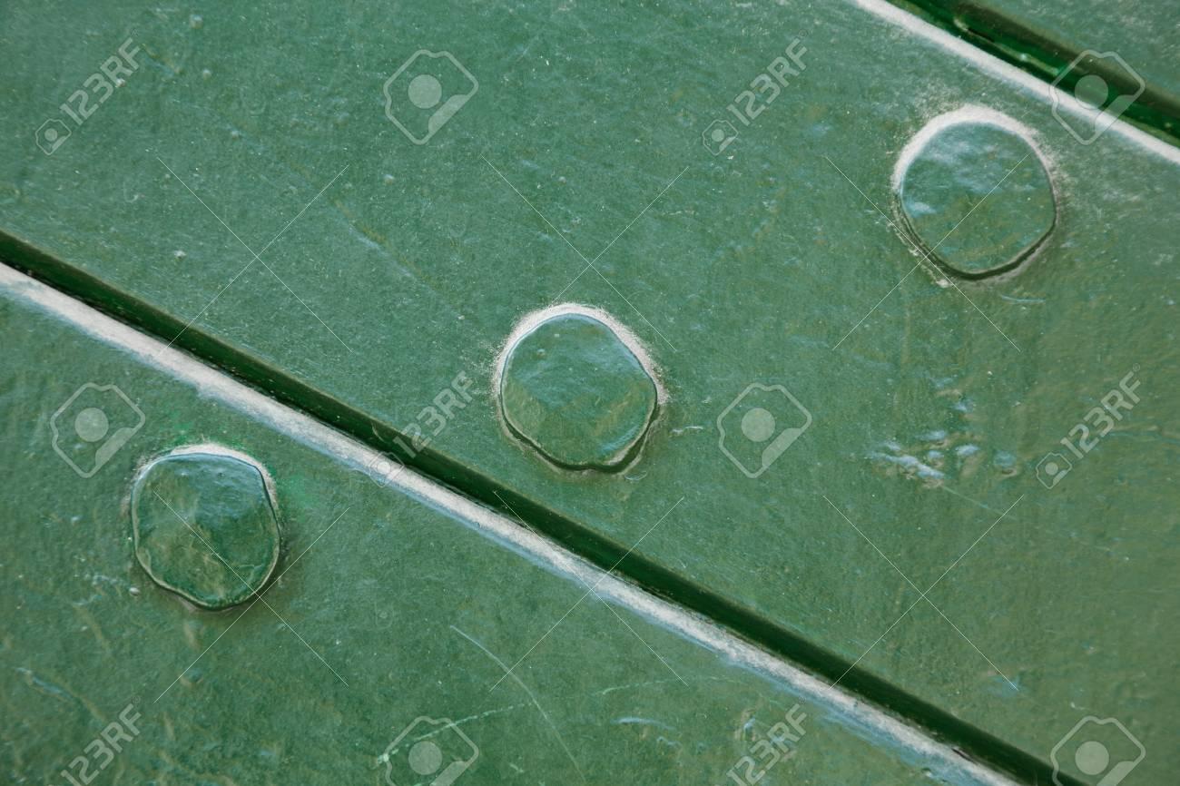 Verde De Madera Pintada Con Uñas Y Textura De Fondo Con Dos Tablones ...