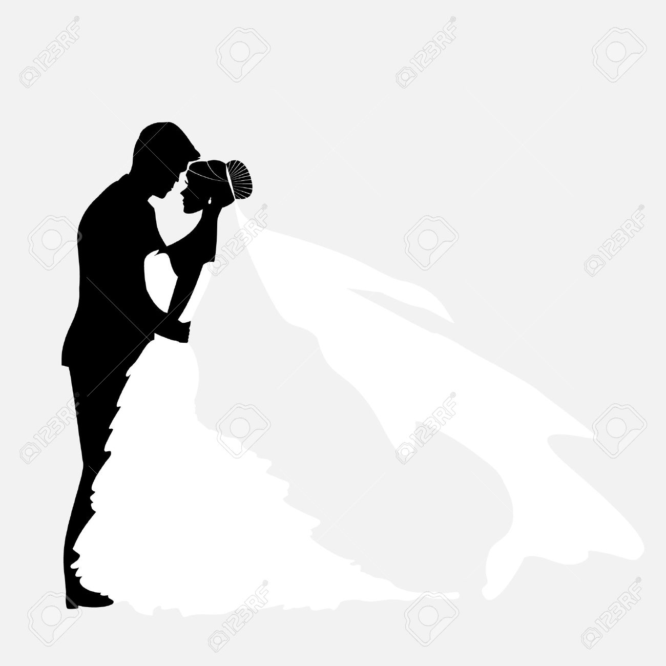 Bride And Groom Vector Couples Silhouette For Wedding Invitation