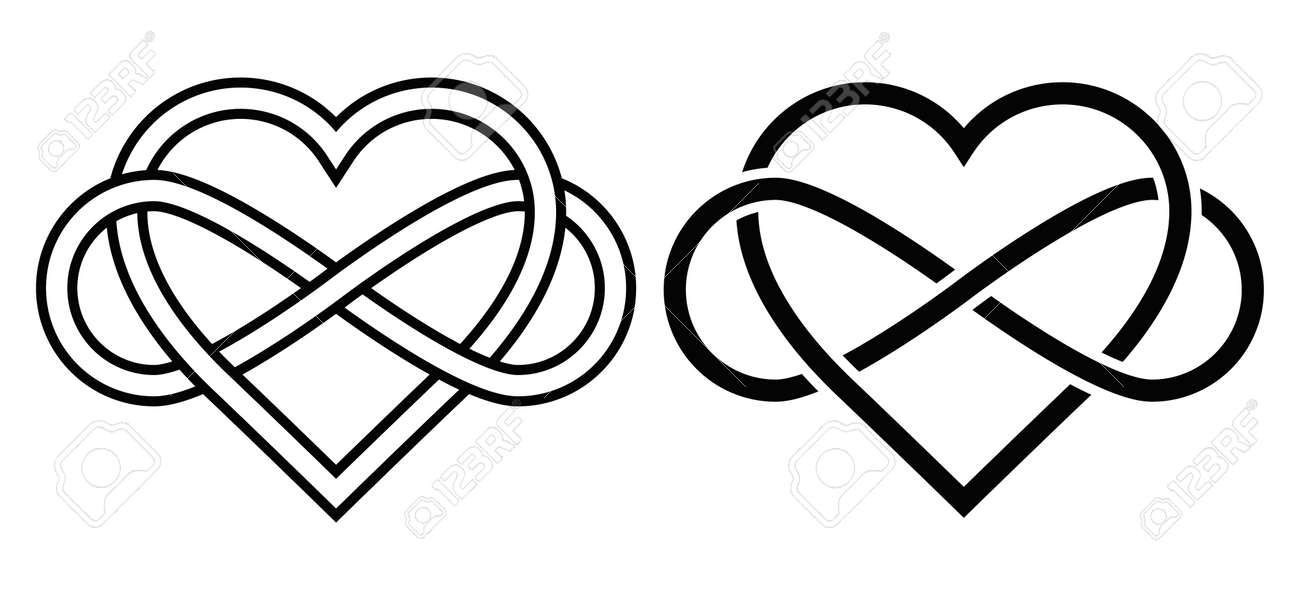 d3f2b7f6d3daa Intertwined Heart with The Sign of Infinity. Love forever