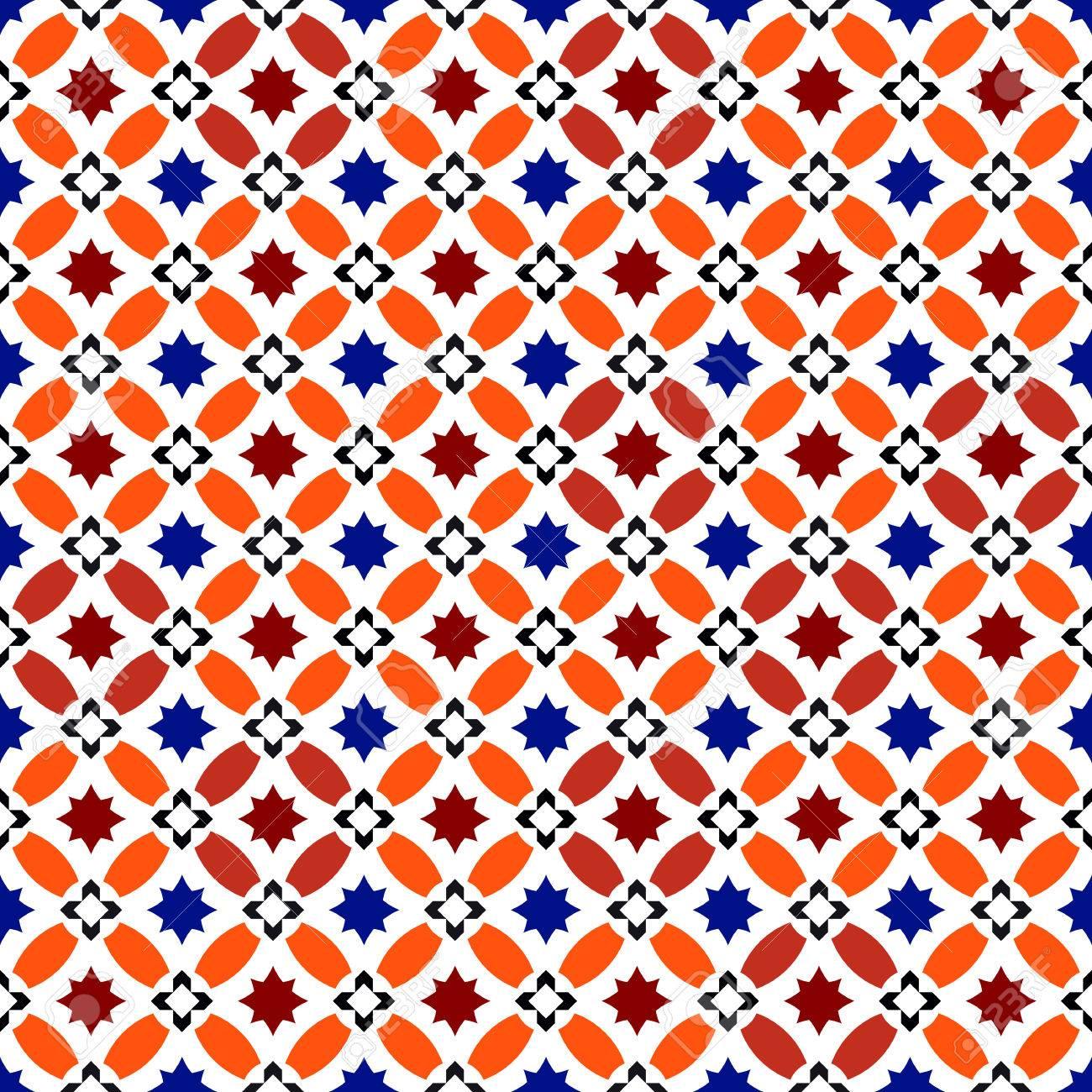 Moroccan Pattern. Mosaic Tiles. Islamic Ornaments. Seamless Vector ...