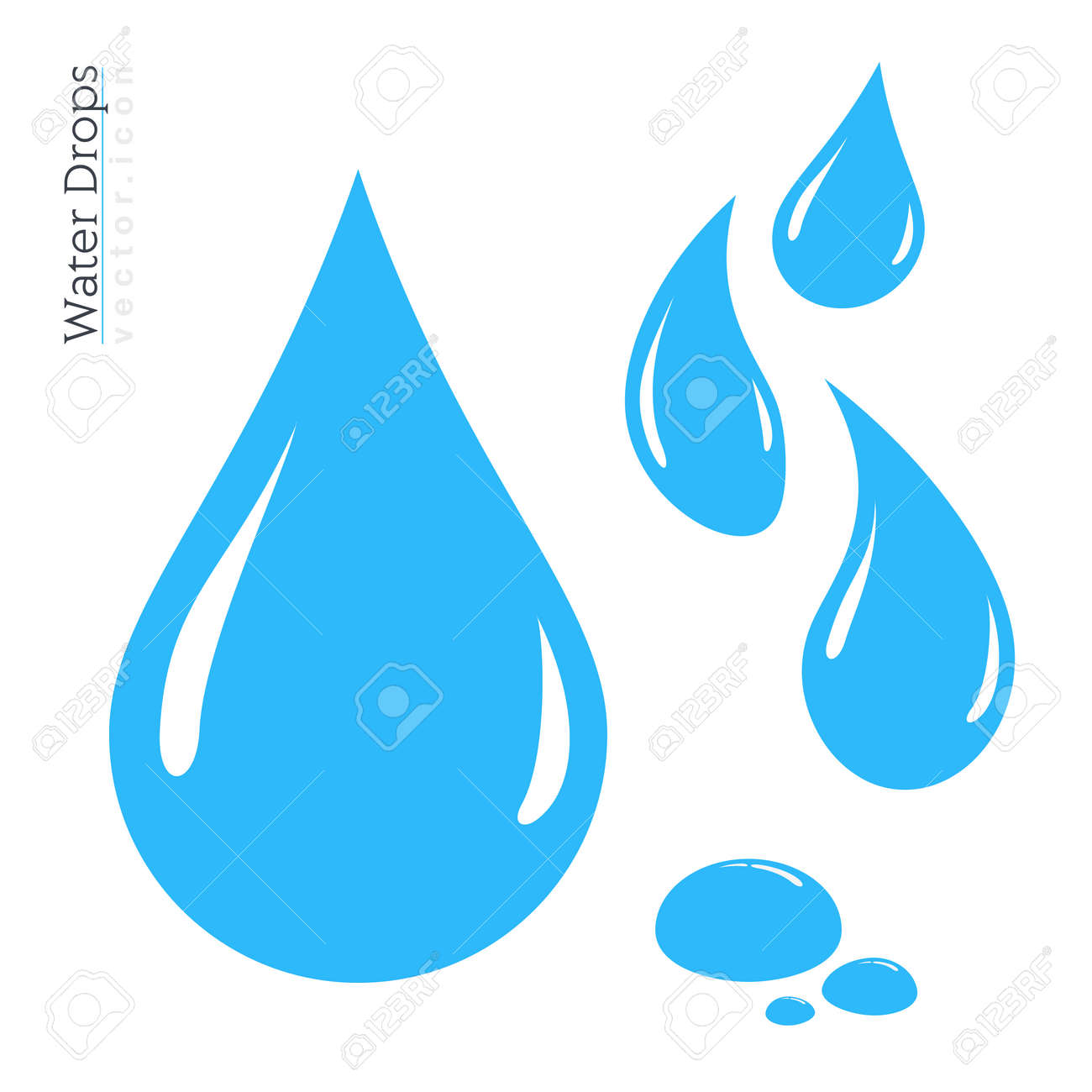water drop icon set vector raindrop silhouette design elements rh 123rf com free vector water droplet vector water drops in adobe illustrator