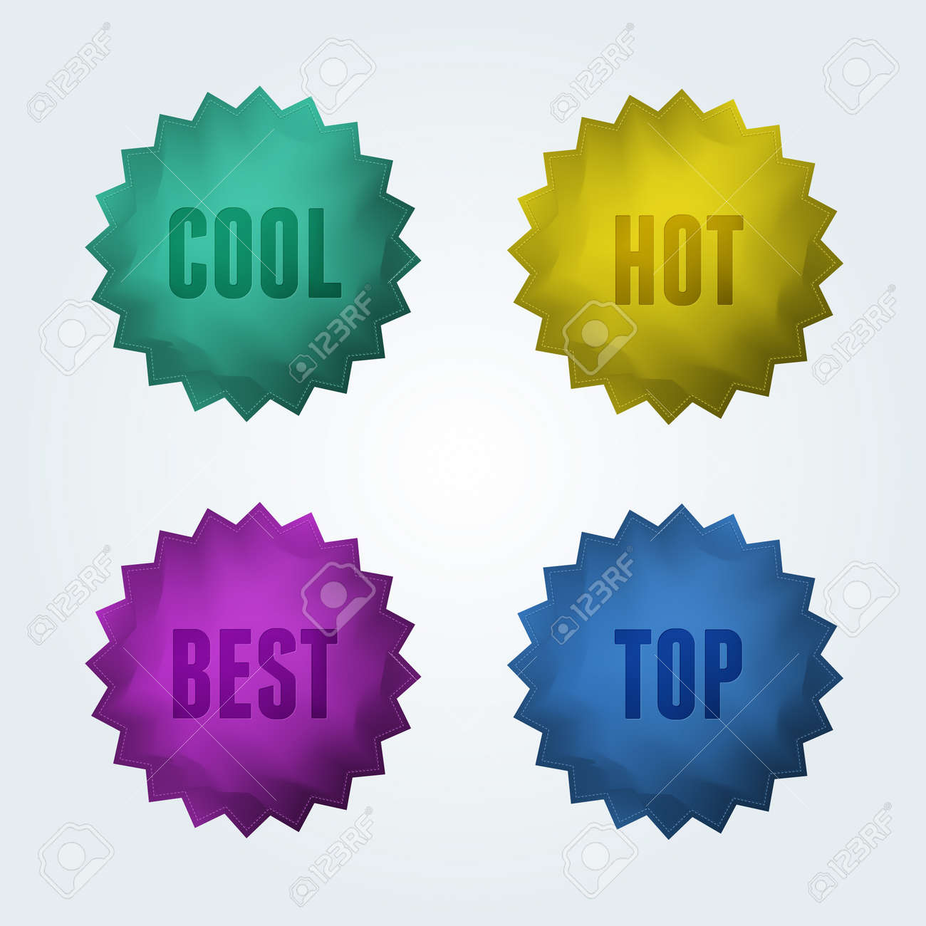 Set of 4 quality labels Stock Vector - 14229984