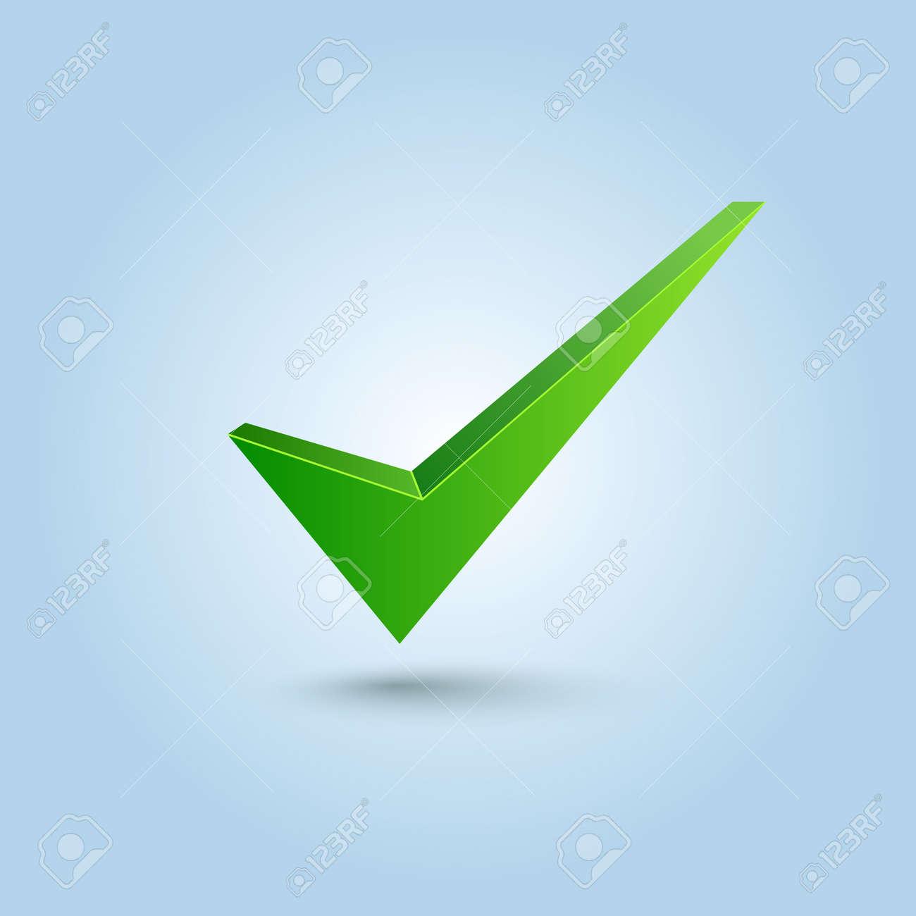 Green check mark symbol Stock Vector - 14387920