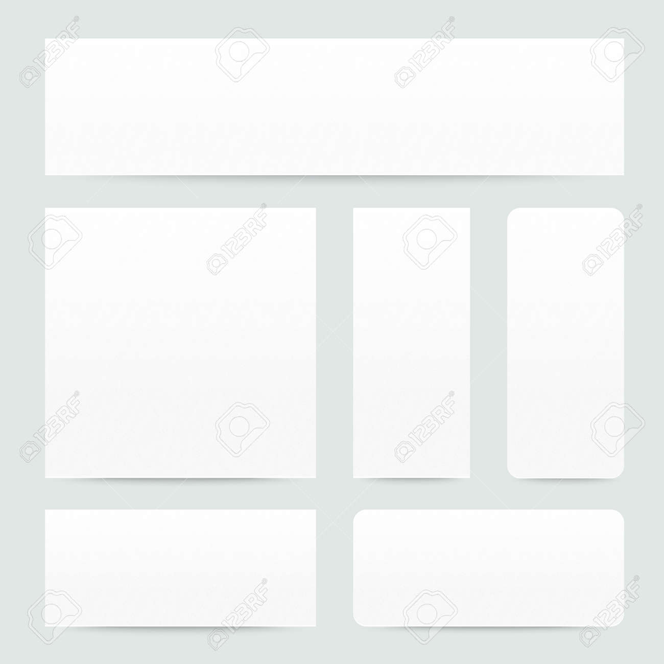 Different paper banners with shadows - 14956283