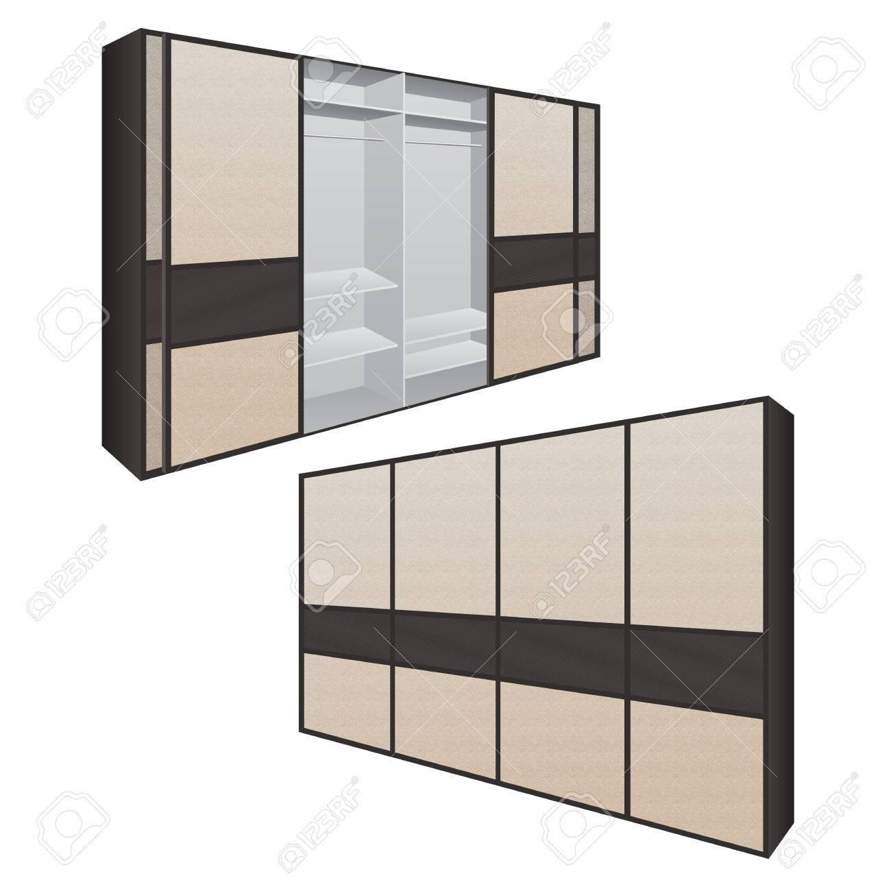 Armoire A Portes Coulissantes Pour Chambre Ou Dressing Concept D Armoire A Portes Coulissantes Avec Portes Fermees Et Ouvertes