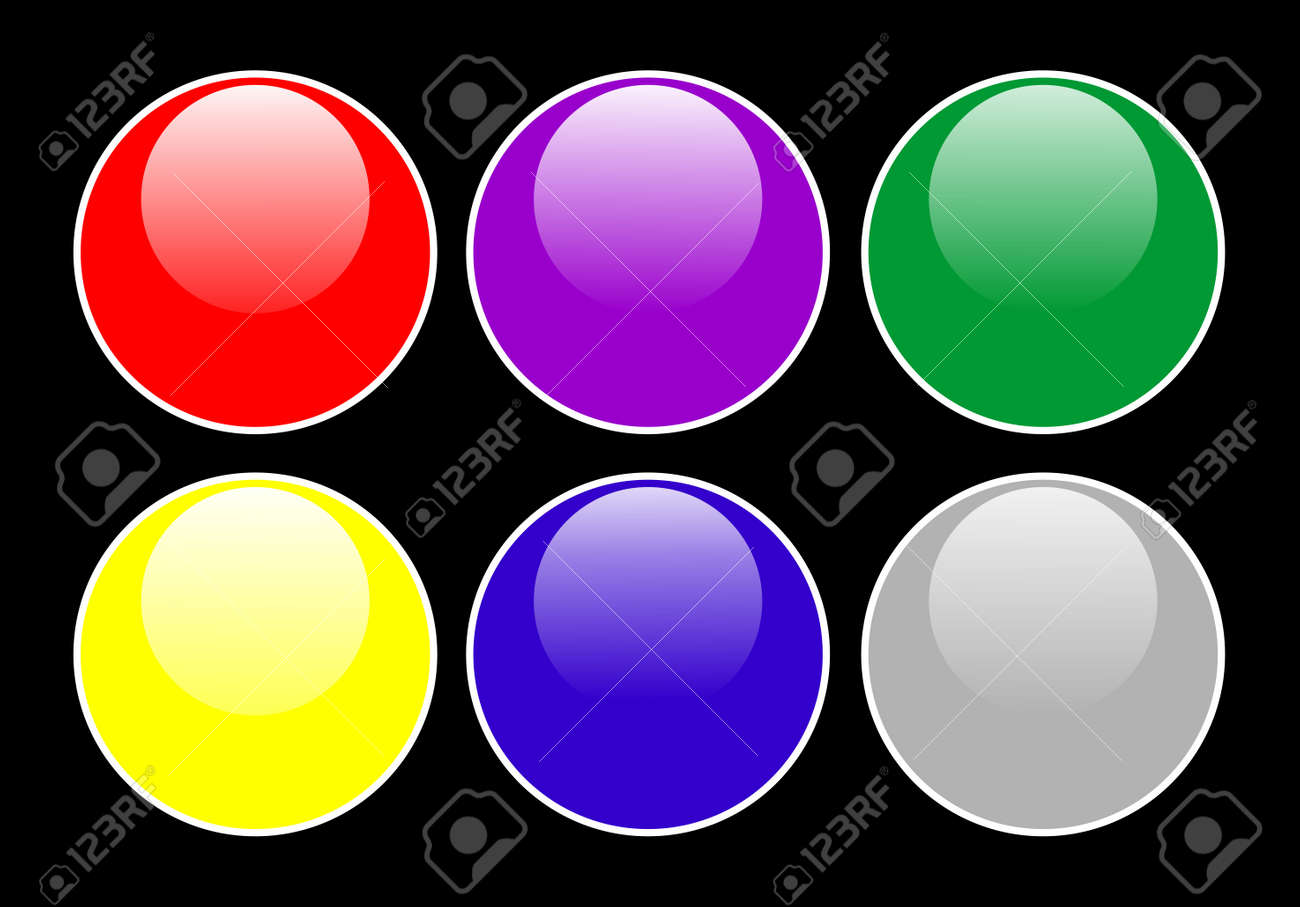 Glossy buttons Stock Vector - 5453830