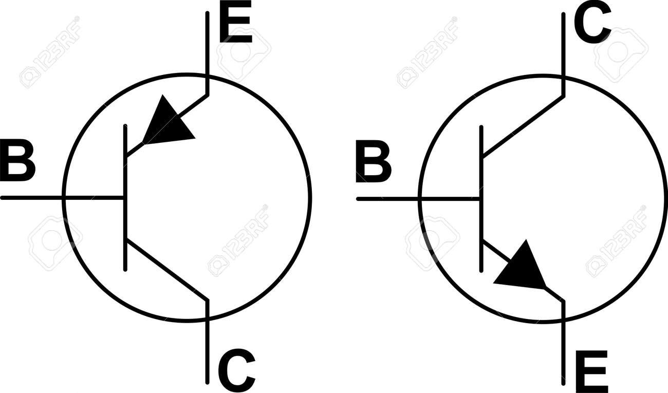 Transistor Npn Pnp Symbols Royalty Free Cliparts Vectors And Stock