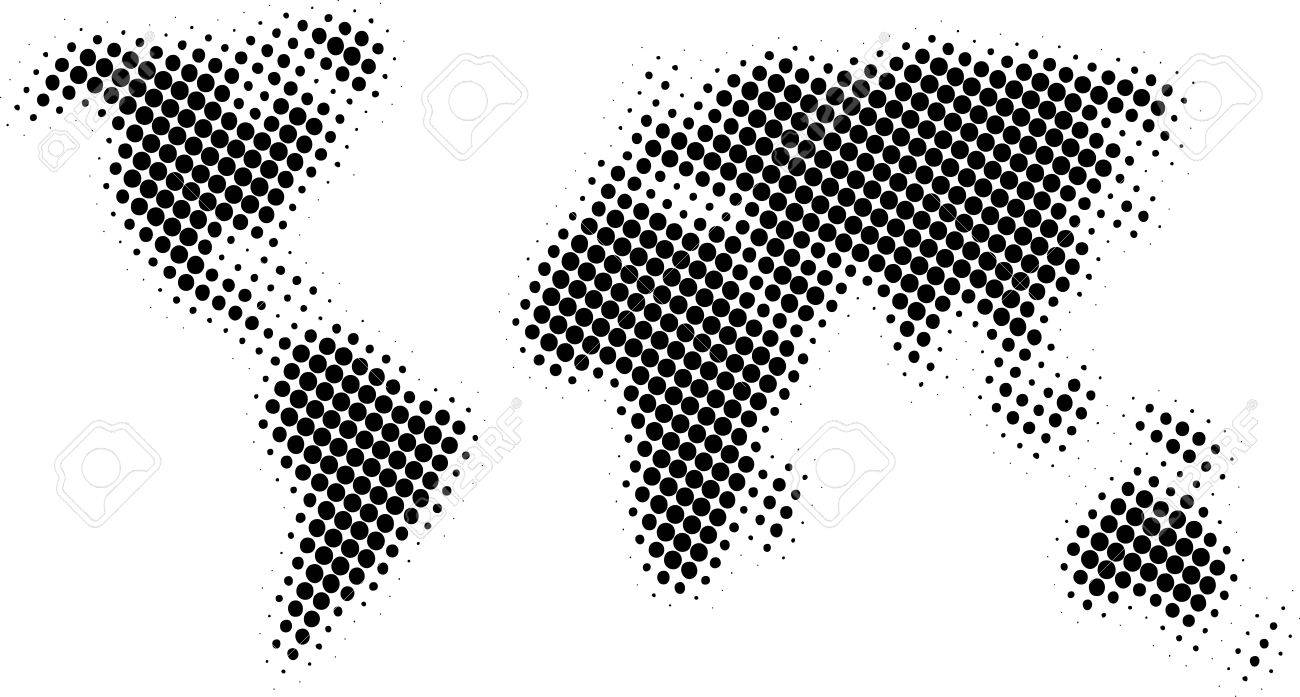 Halftone world map royalty free cliparts vectors and stock halftone world map stock vector 5469100 gumiabroncs Image collections