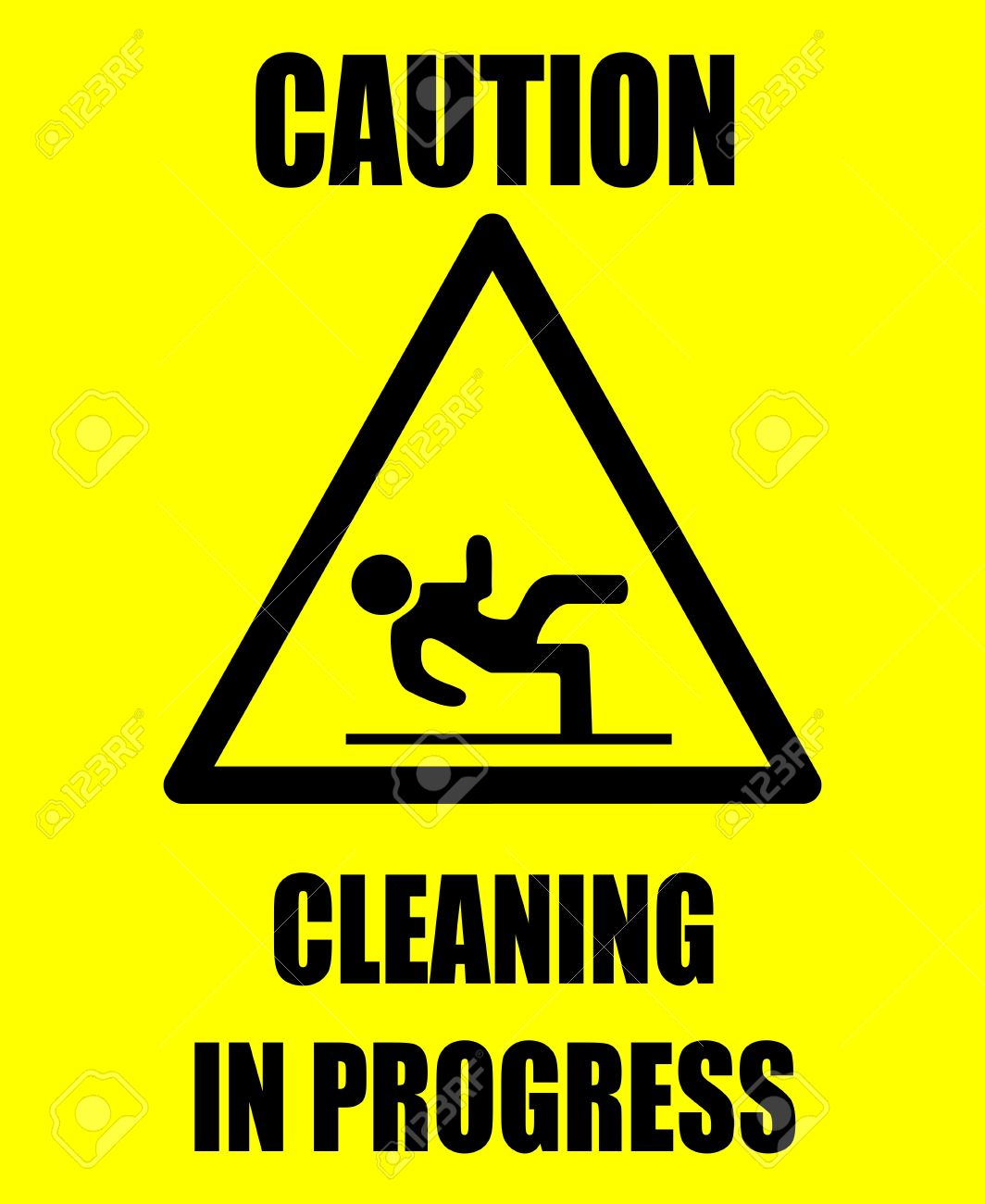 Caution cleaning Stock Vector - 6747507