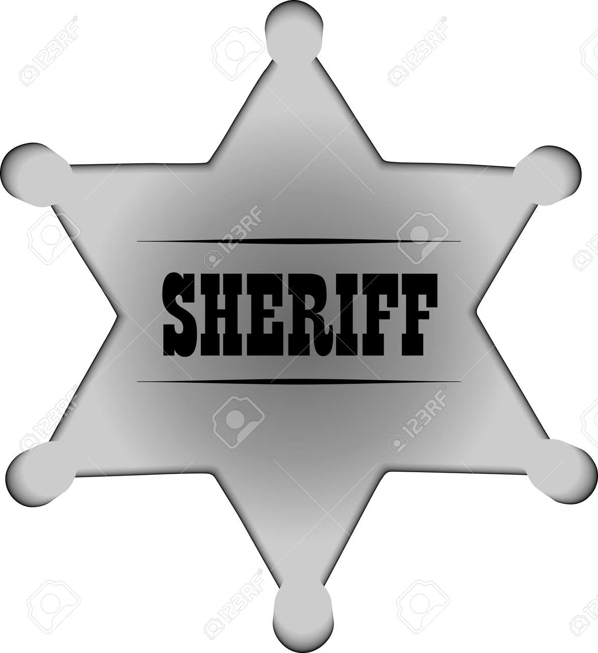 Sheriff badge Stock Vector - 6747418