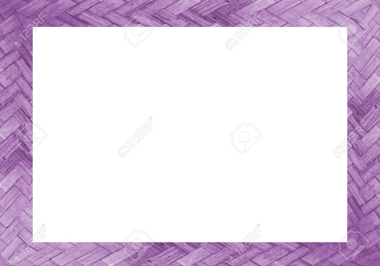 Bambus Bilderrahmen Auf Weißem Hintergrund Lizenzfreie Fotos, Bilder ...