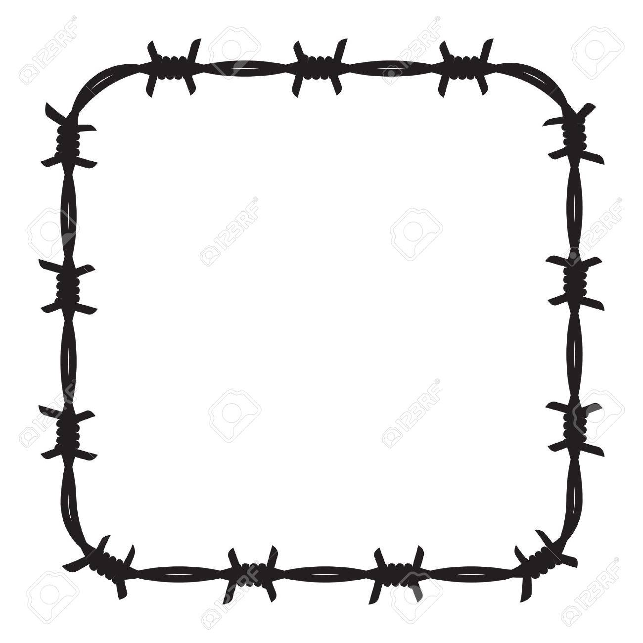 frame barbed wire royalty free cliparts vectors and stock rh 123rf com barb wire vector free barbed wire vector art free