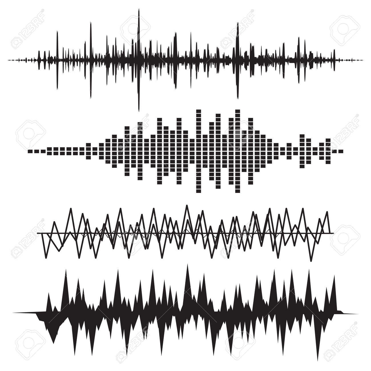 sound wave icon set music soundwave icons set equalize audio