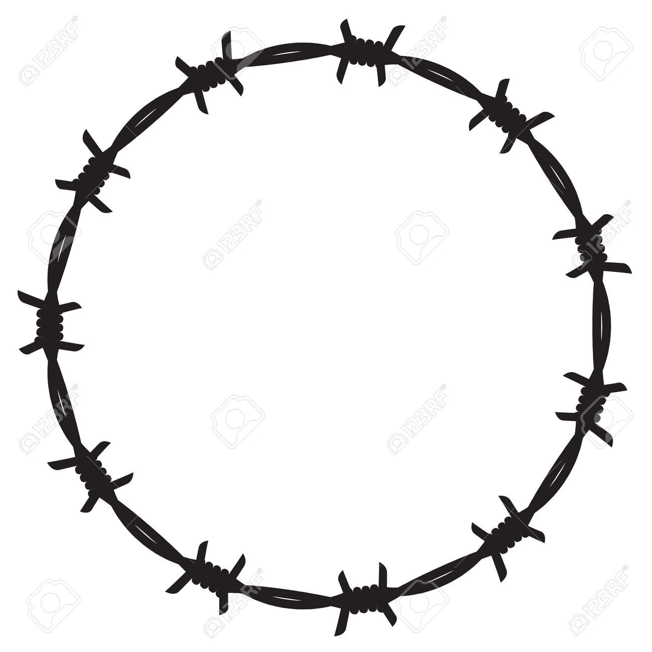 frame barbed wire royalty free cliparts vectors and stock rh 123rf com barb wire vector brush barb wire vector free download