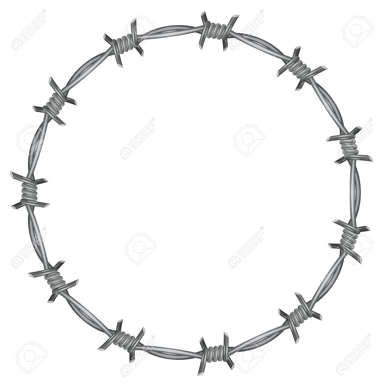 frame barbed wire royalty free cliparts vectors and stock rh 123rf com barbed wire vector art barbed wire vector