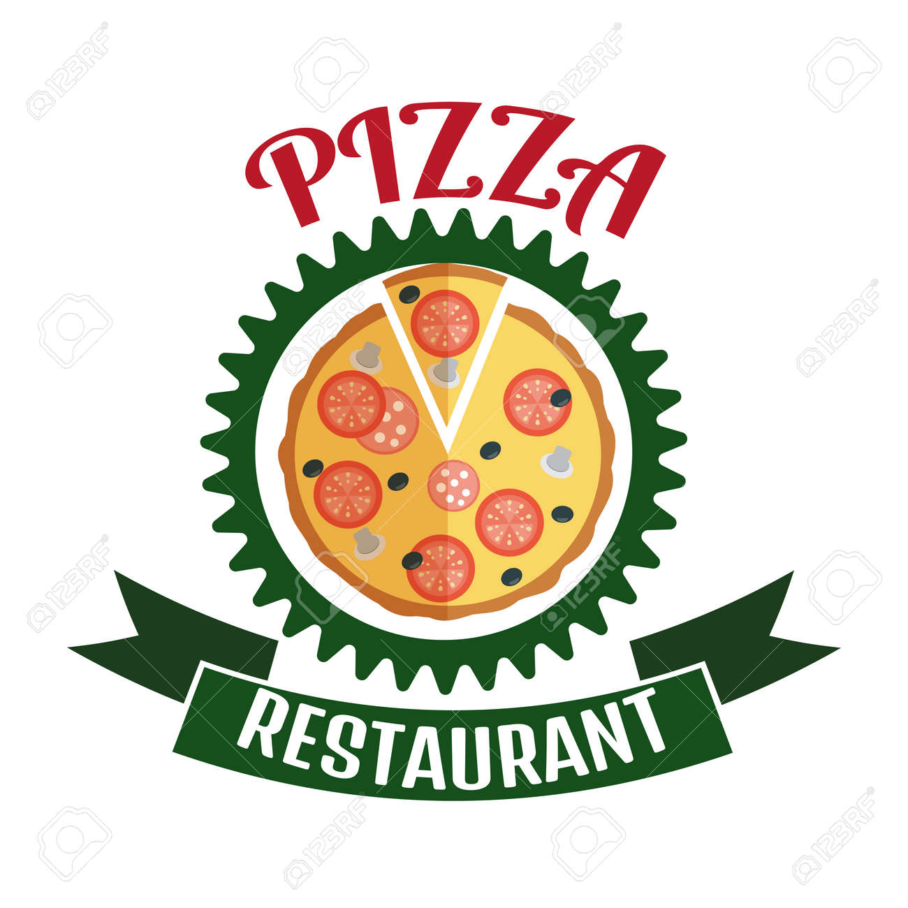 Pizza Delivery Logo. Fast Delivery Logo. Pizza Logo Royalty Free ...