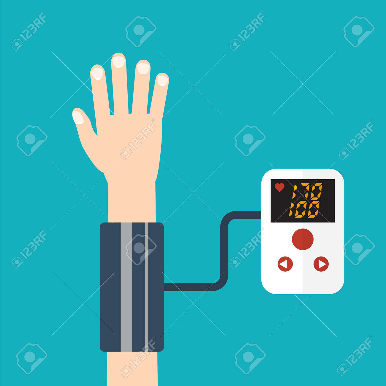 High blood pressure concept vector - 50177191