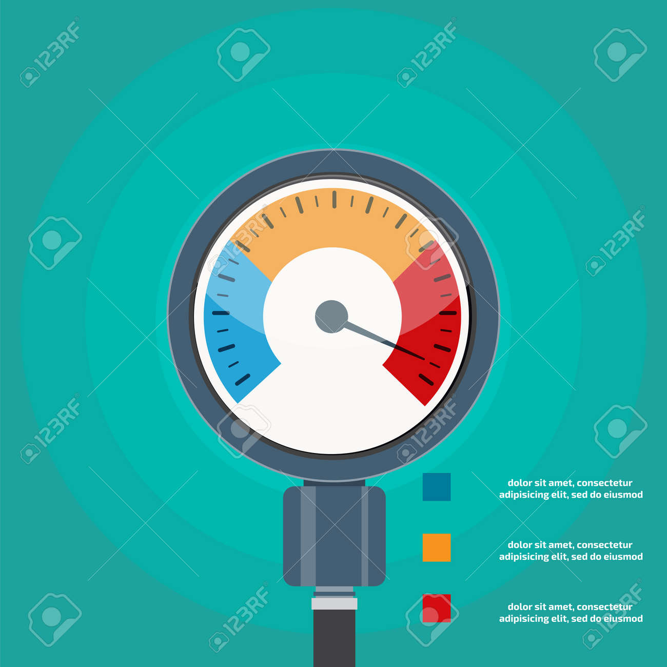 High blood pressure concept vector - 52477332