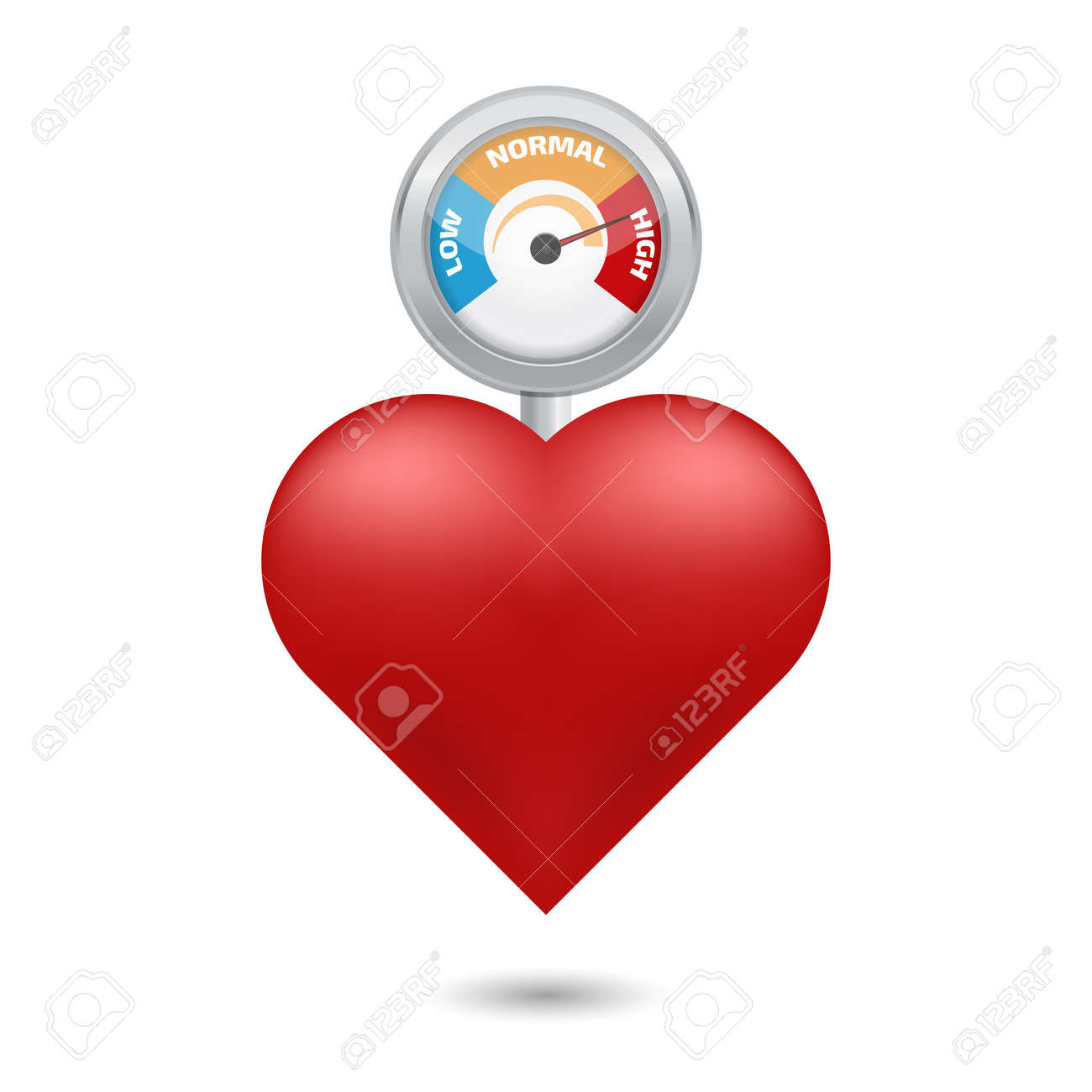 High blood pressure concept vector - 52477334