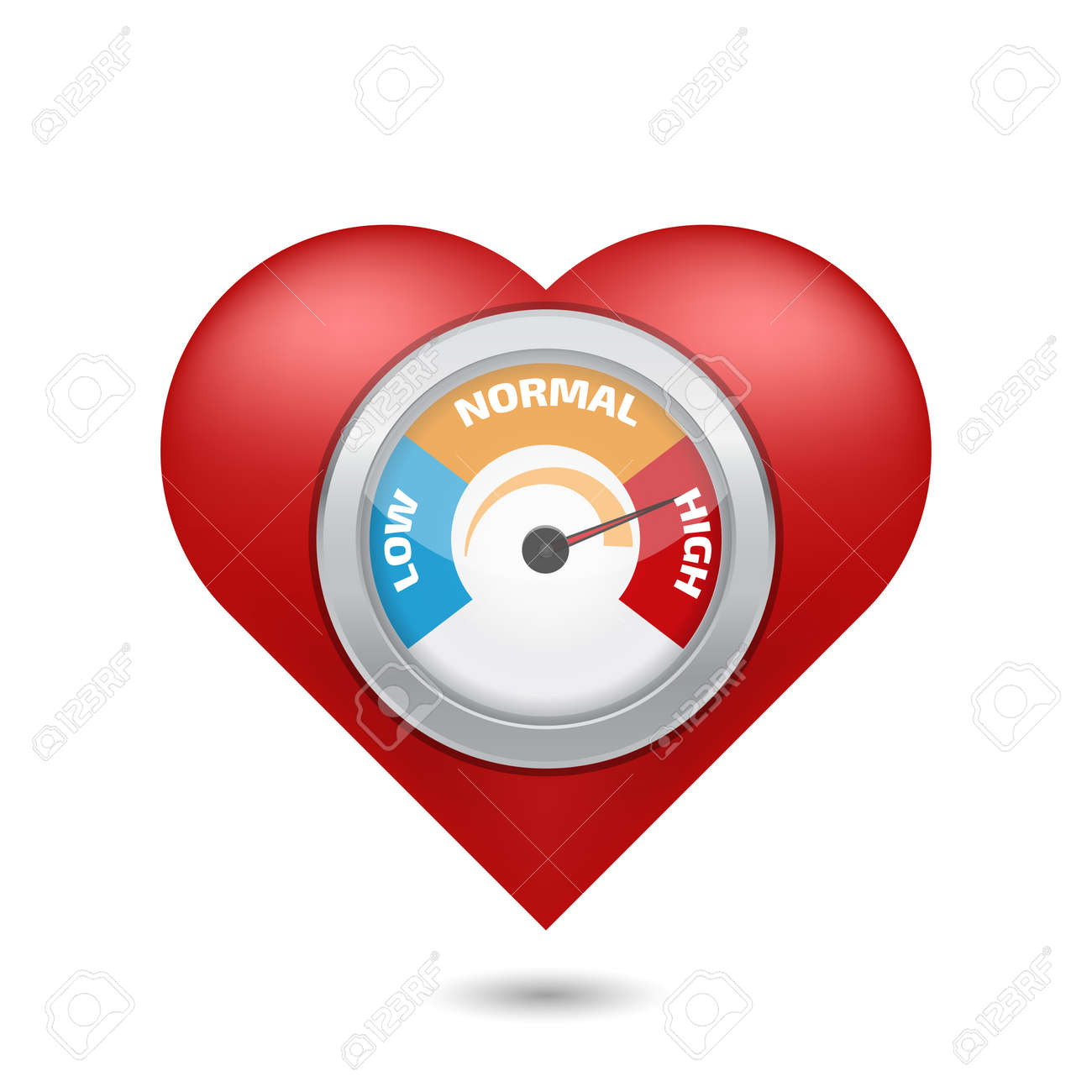 High blood pressure concept vector - 52476623