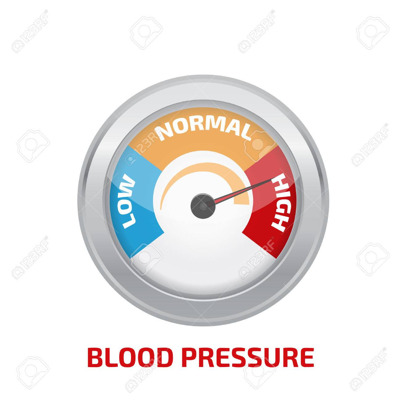 High blood pressure concept vector - 52476626