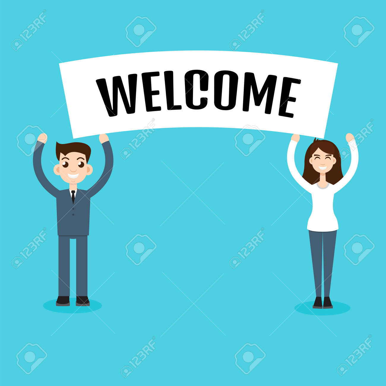 Formal Welcome Banners Internet Technology Banners
