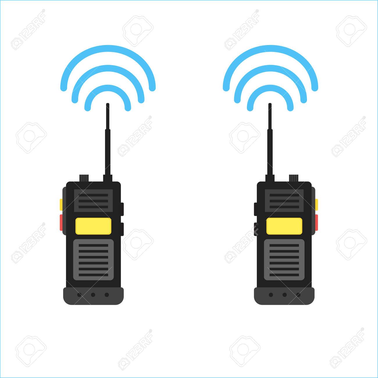 walkie talkie icon. police radio online - 61453597