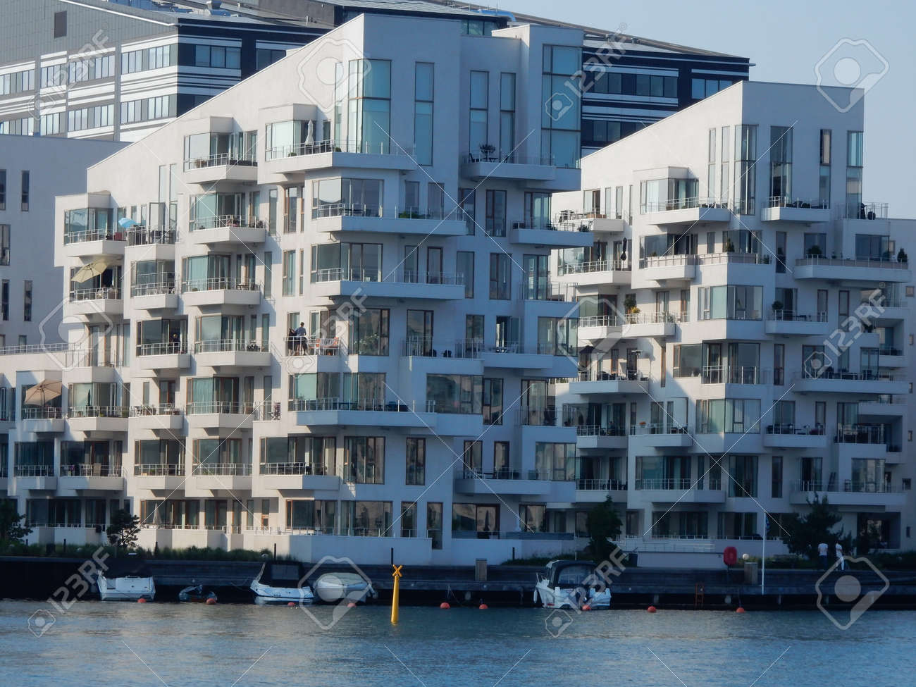 Residential Buildings Near Fisketorvet South Harbor Copenhagen