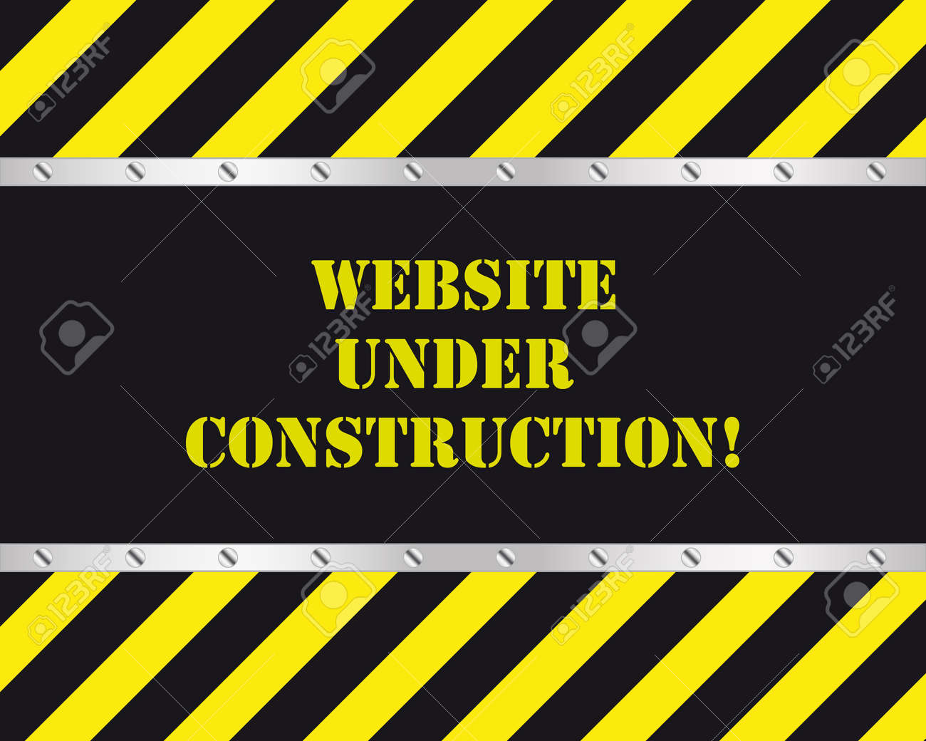 Website under construction page Stock Vector - 9680362