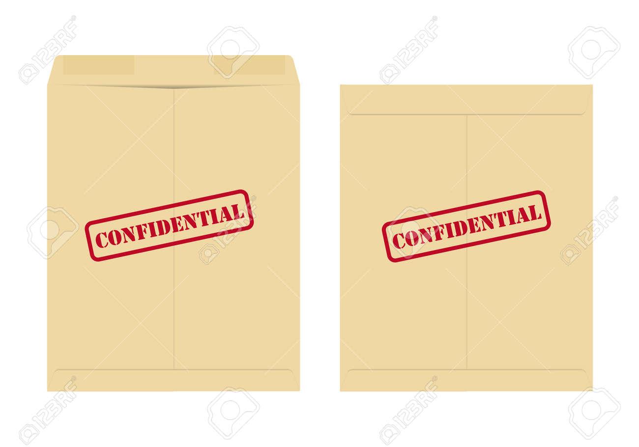 Confidential envelope Stock Vector - 10236669