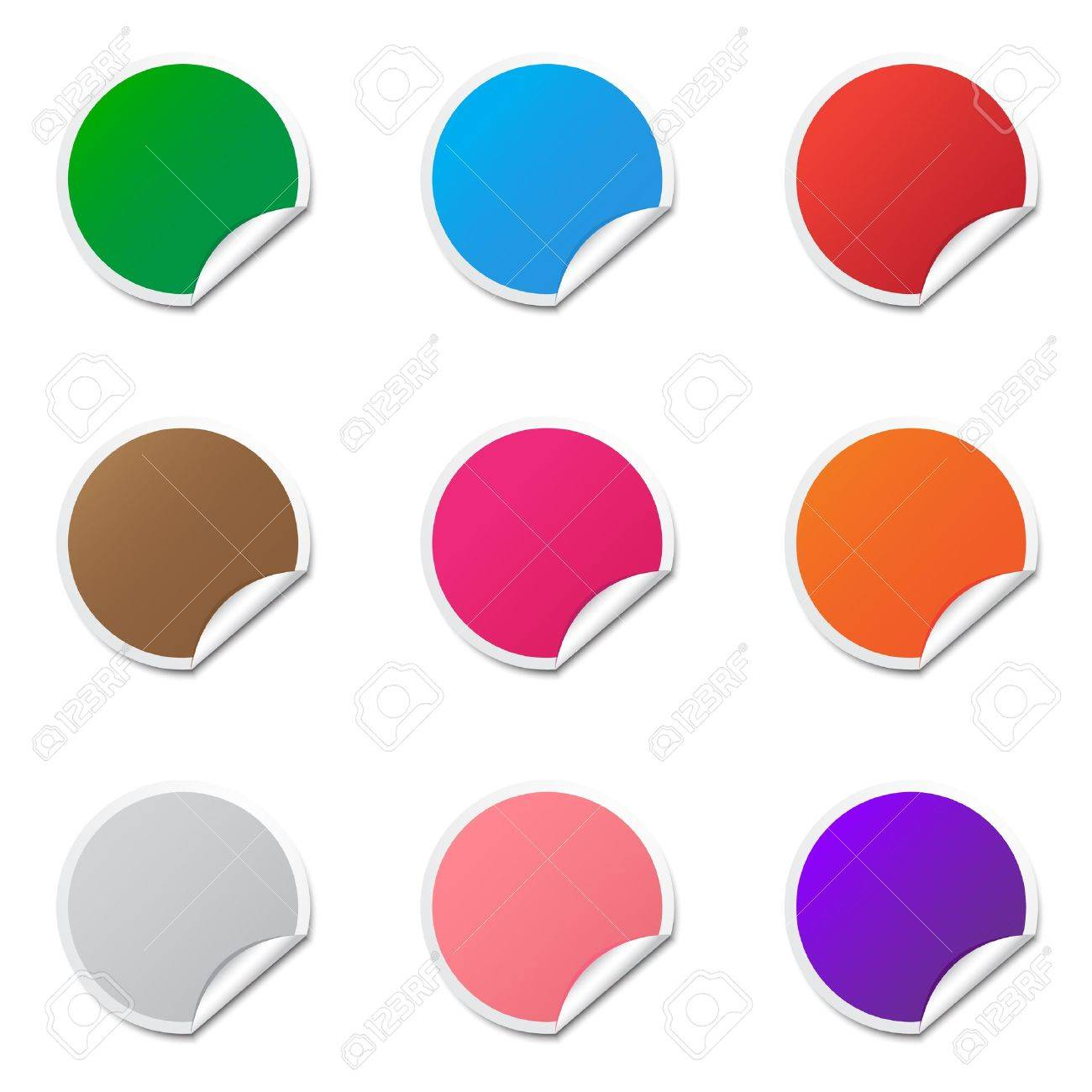 Blank Stickers Royalty Free Cliparts, Vectors, And Stock ...