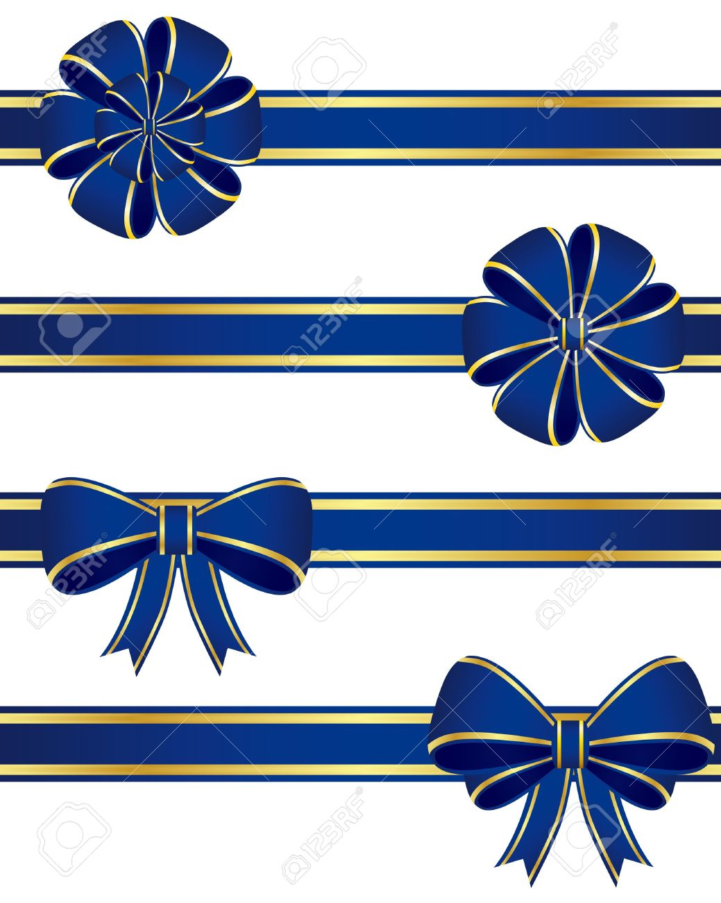 Collection of blue bows Stock Vector - 11497337
