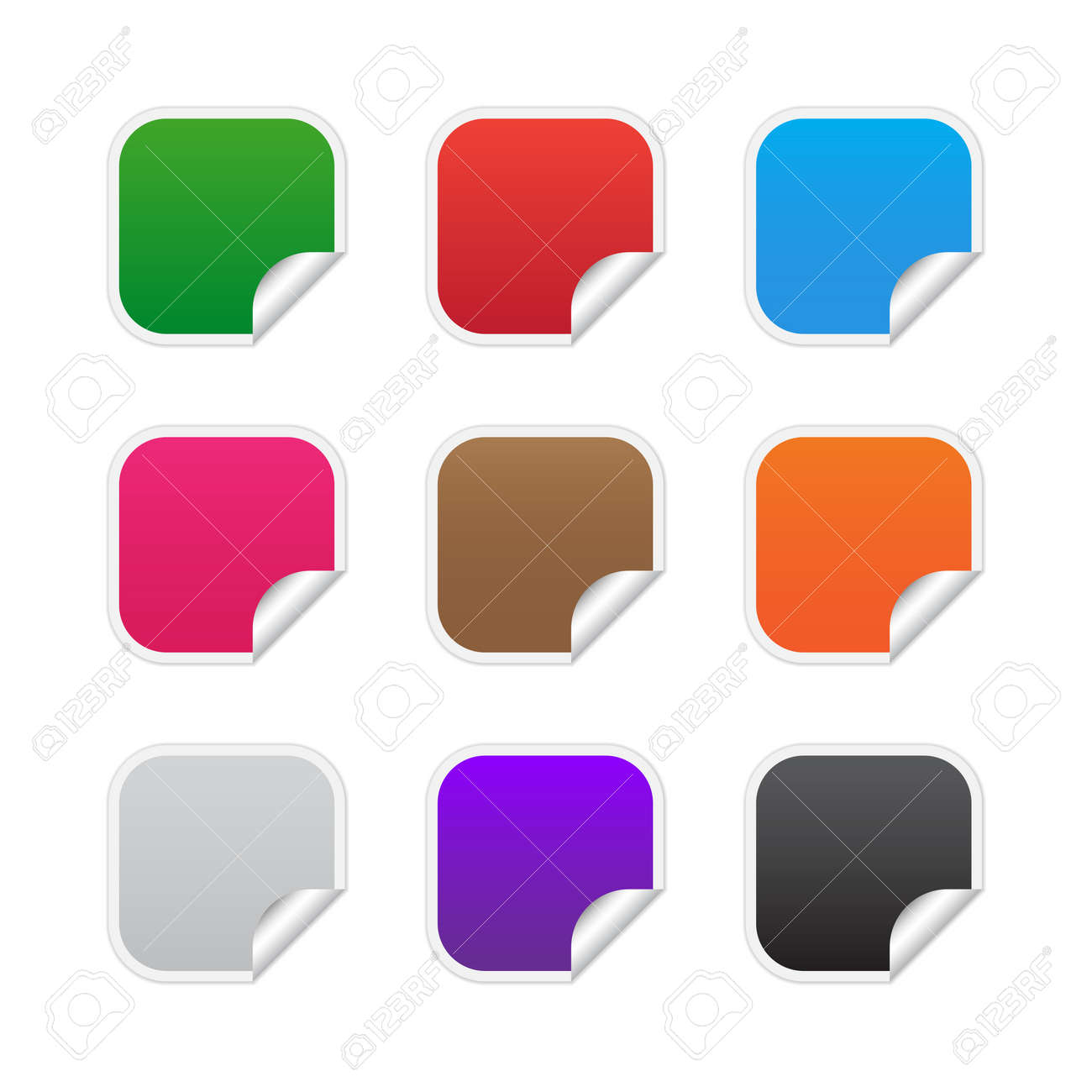 Colorful square labels Stock Vector - 14448941
