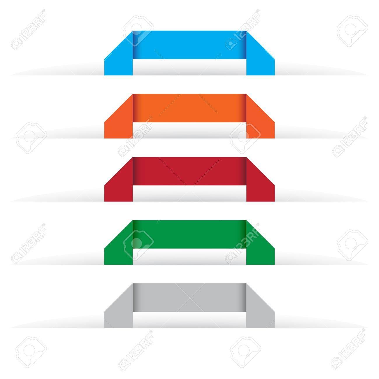 Origami labels Stock Vector - 15798848