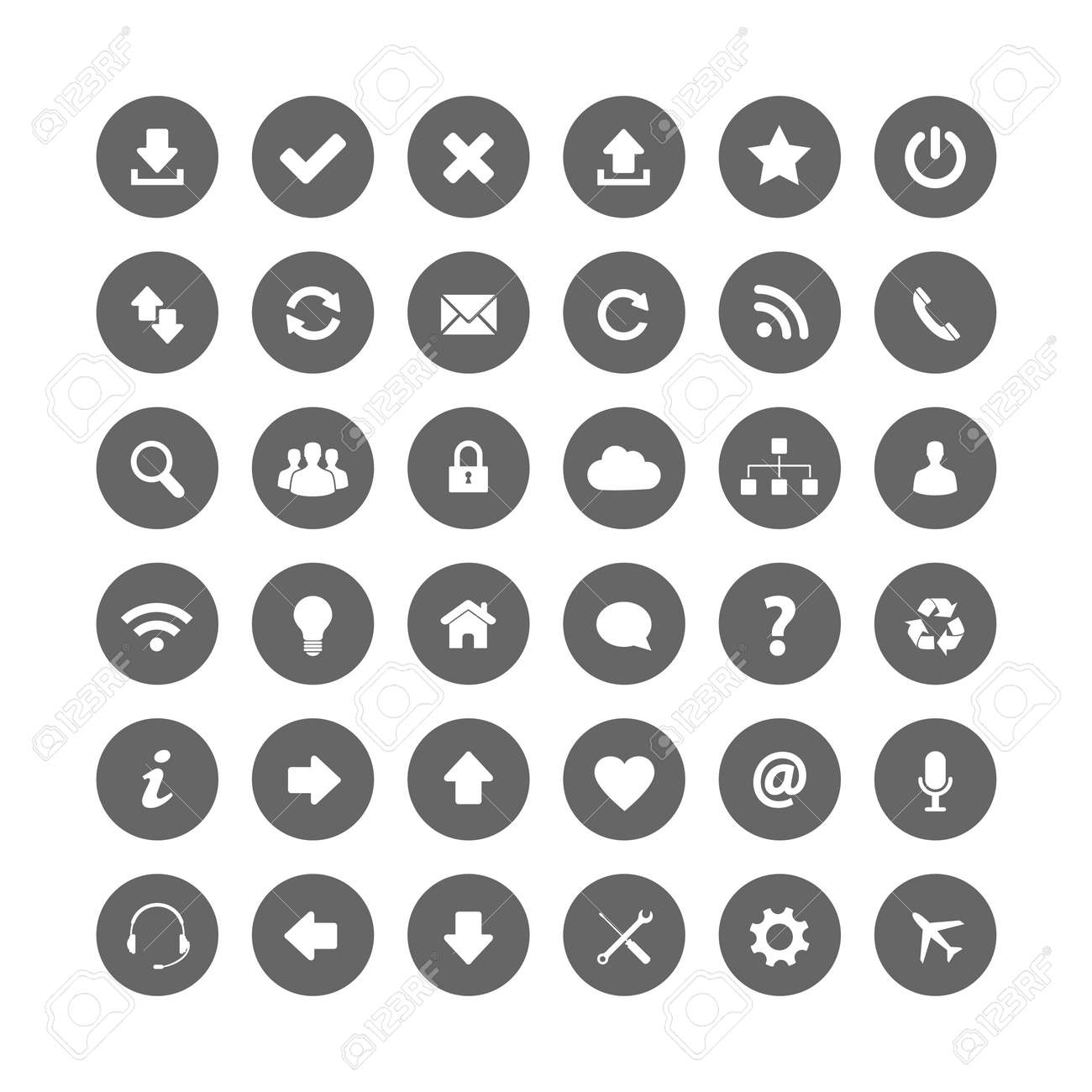 Web icons Stock Vector - 24541771