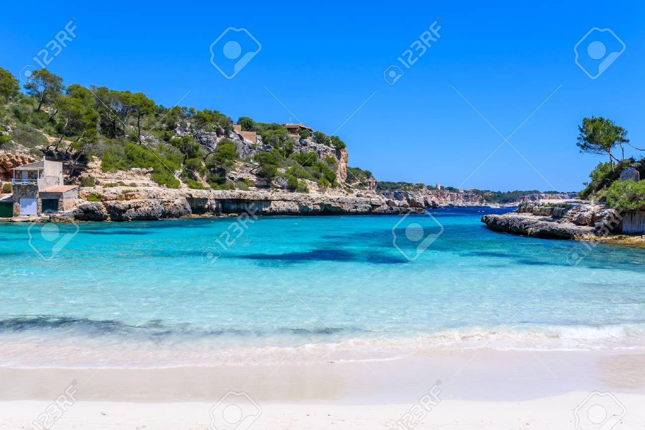 Cala Llombards - beautiful beach in bay of Mallorca, Spain - 83983382