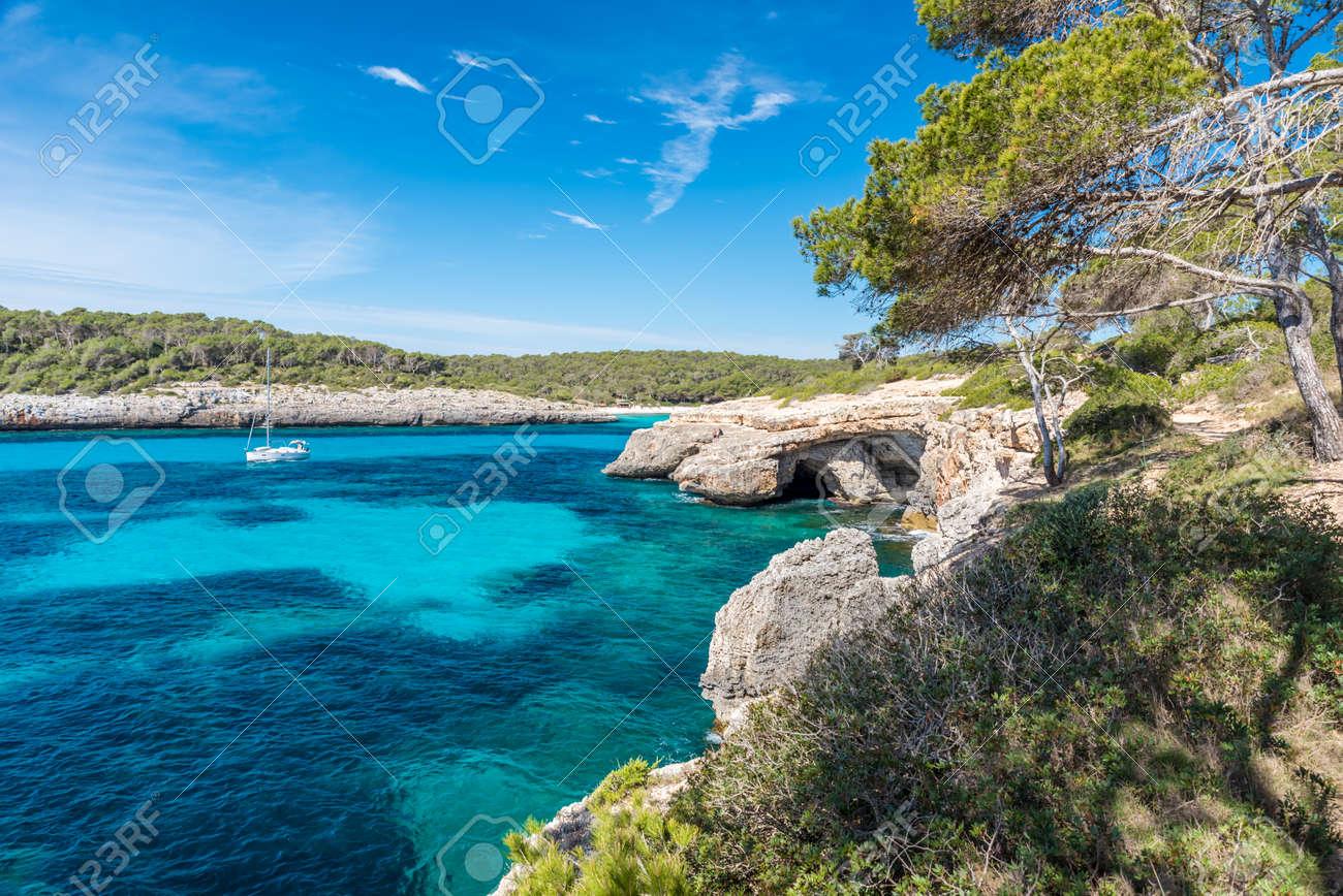 Bay of Cala Mondrago - beautiful beach and coast of Mallorca - 88078614