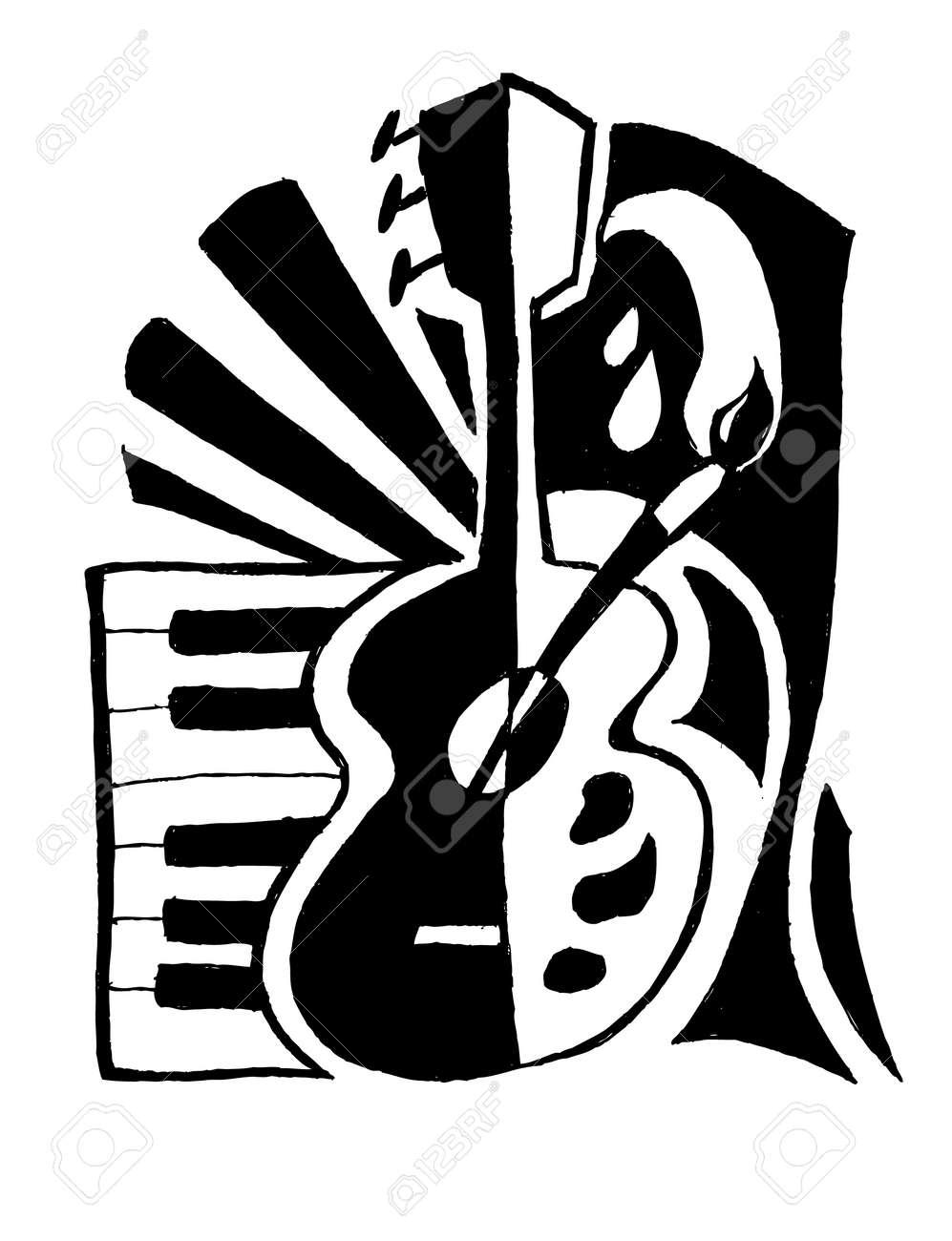 Musique Et L'art Clip Art Libres De Droits , Vecteurs Et ...