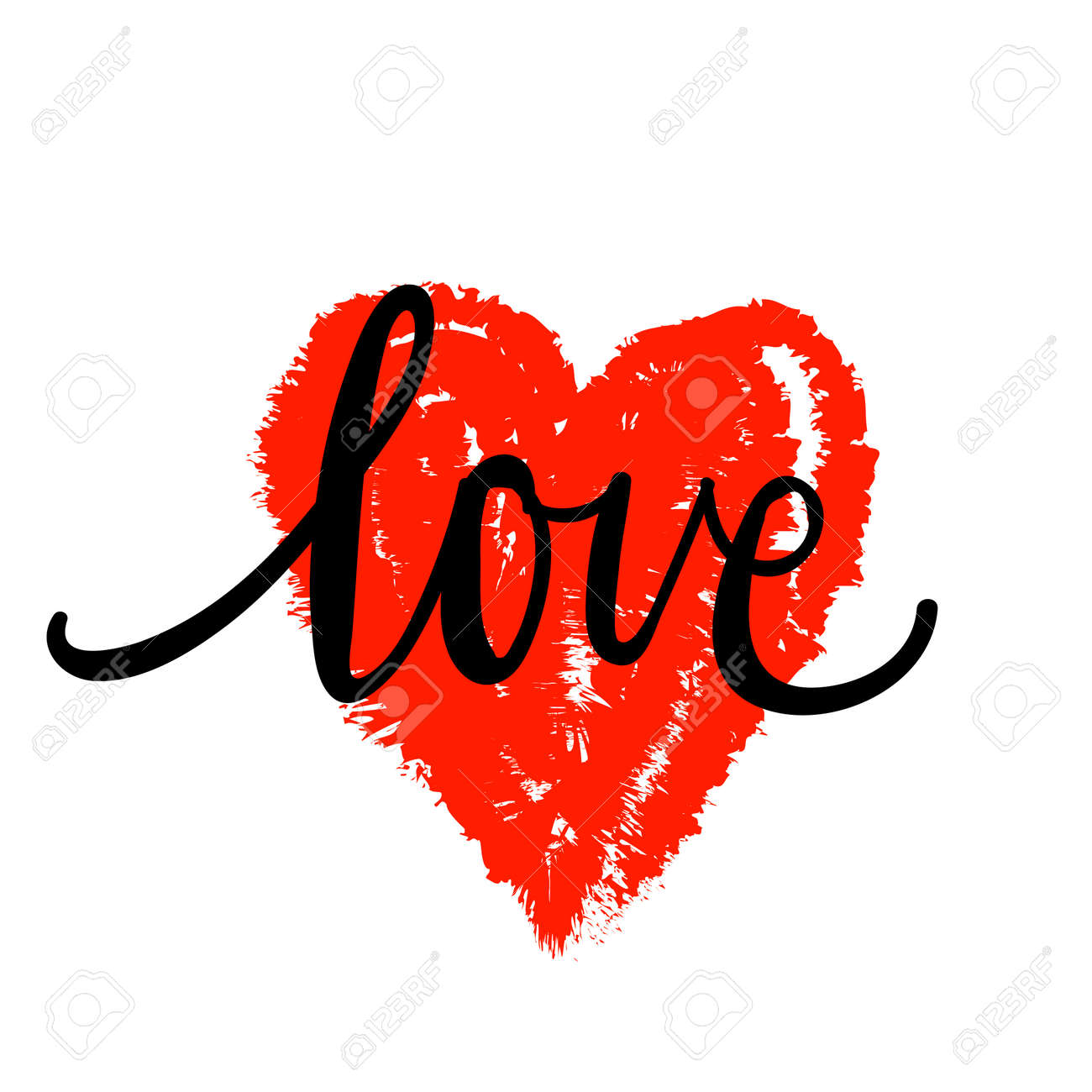 Lettering The Word Love I Love You In The Shape Of The Heart