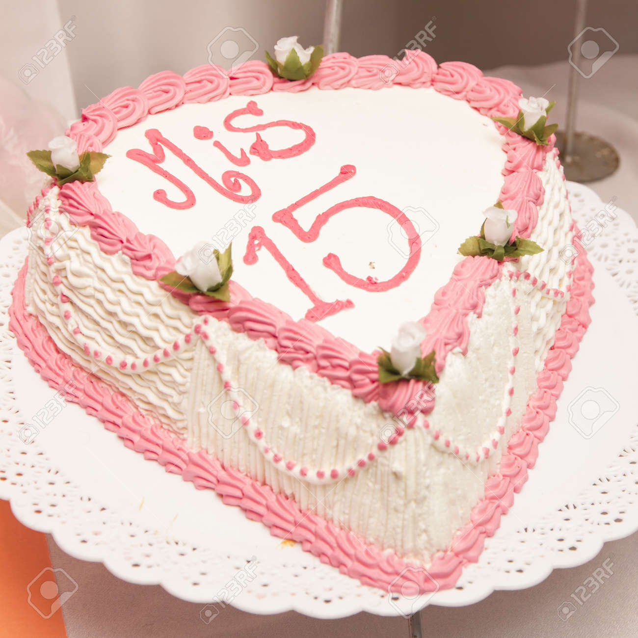 Magnificent 15Th Birthday Cake Stock Photo Picture And Royalty Free Image Funny Birthday Cards Online Alyptdamsfinfo