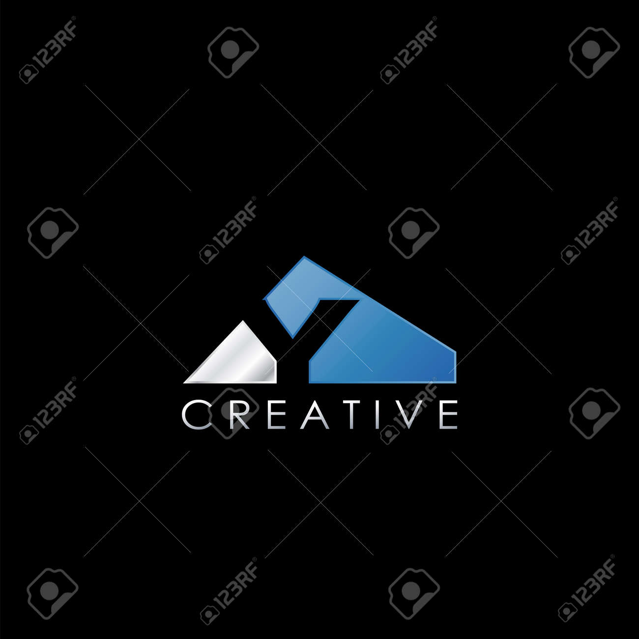 Y Letter Negative Space Logo, Creative Geometrical Logo Design Template with hidden letter initial. - 156874034