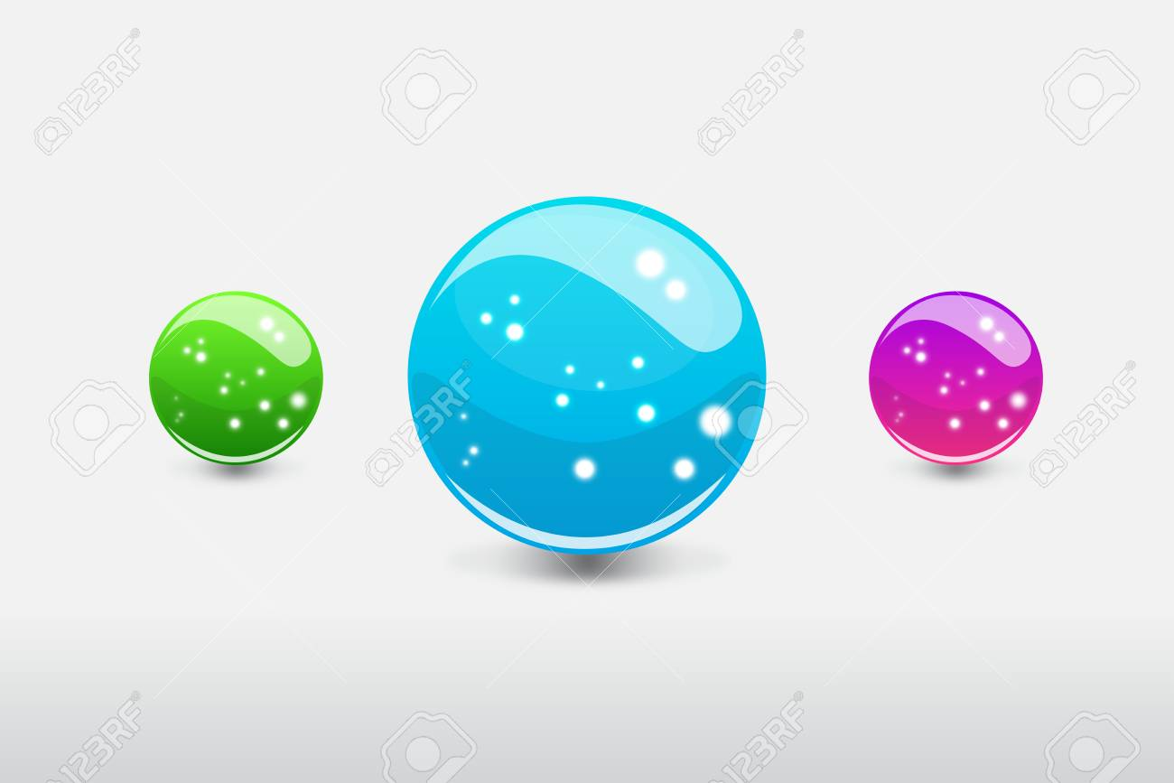 3D glass colorful sphere with glowing dots Stock Vector - 18373248