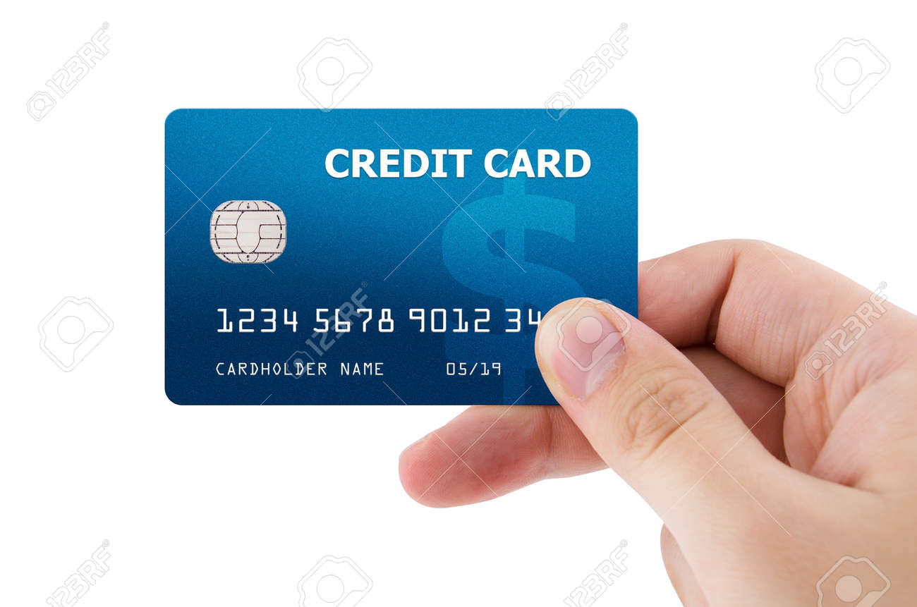 Hand Holding Plastic Credit Card Stock Photo, Picture And Royalty ...
