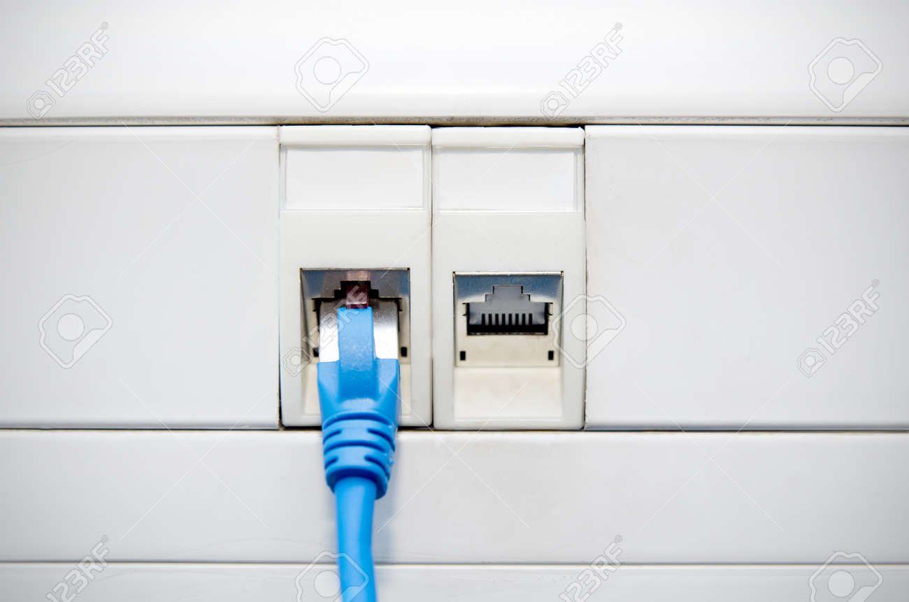 Incredible Ethernet Cable Connected To Socket In Wall Internet Connection Wiring Cloud Venetbieswglorg