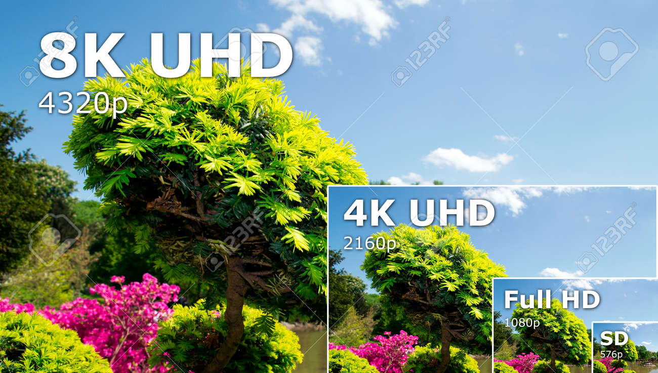 tv ultra hd. 8k television resolution technology. hdtv ultra.. stock