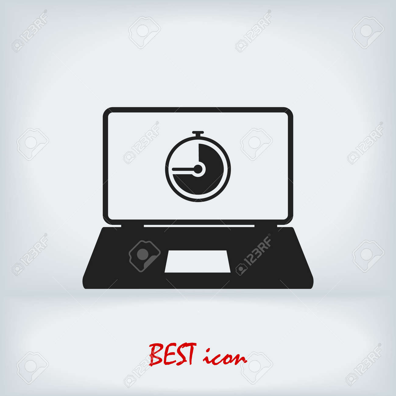 laptop icon, stock vector illustration flat design style - 153933394