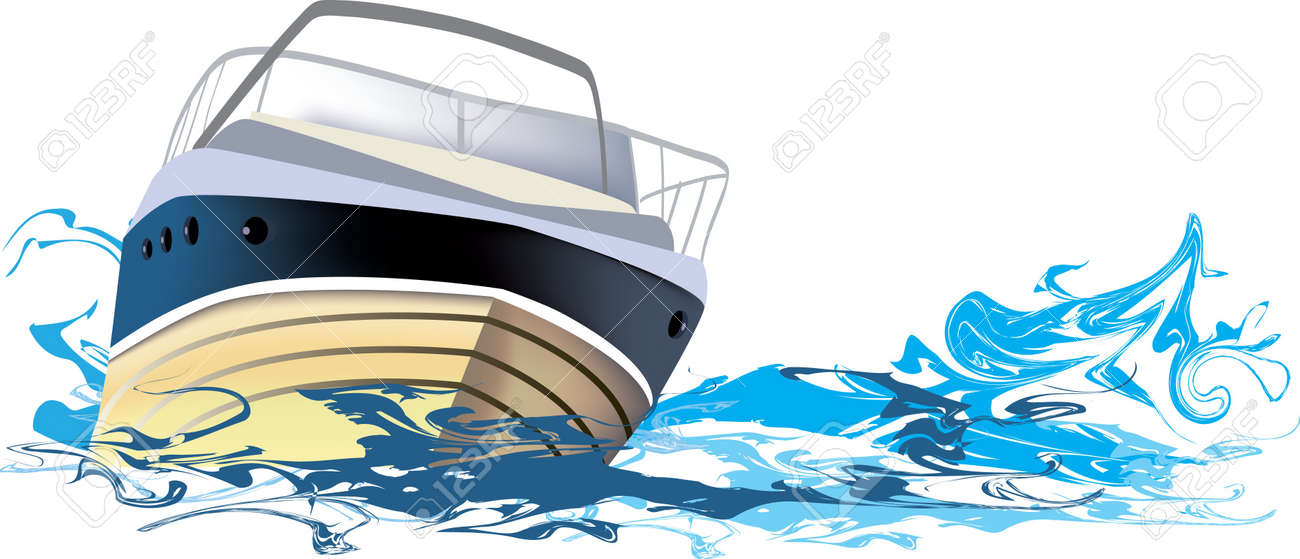 ship at sea, boat on the river Stock Vector - 10884550