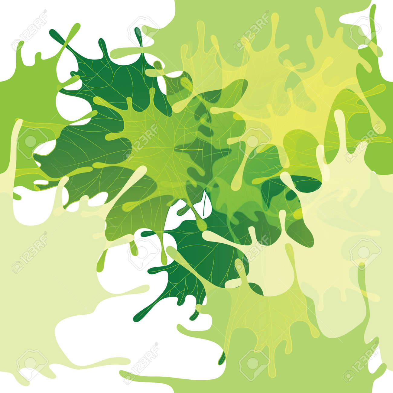 Seamless abstract leaves background - 14704449