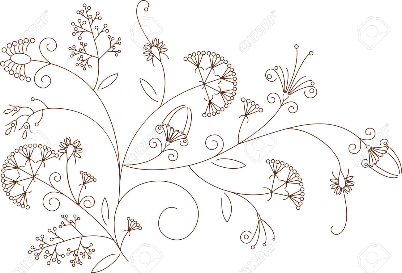 Floral pattern, plant ornament - 14805862